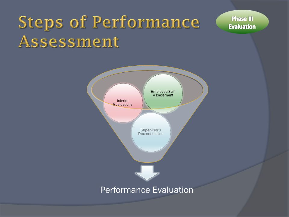 Steps of Performance Assessment