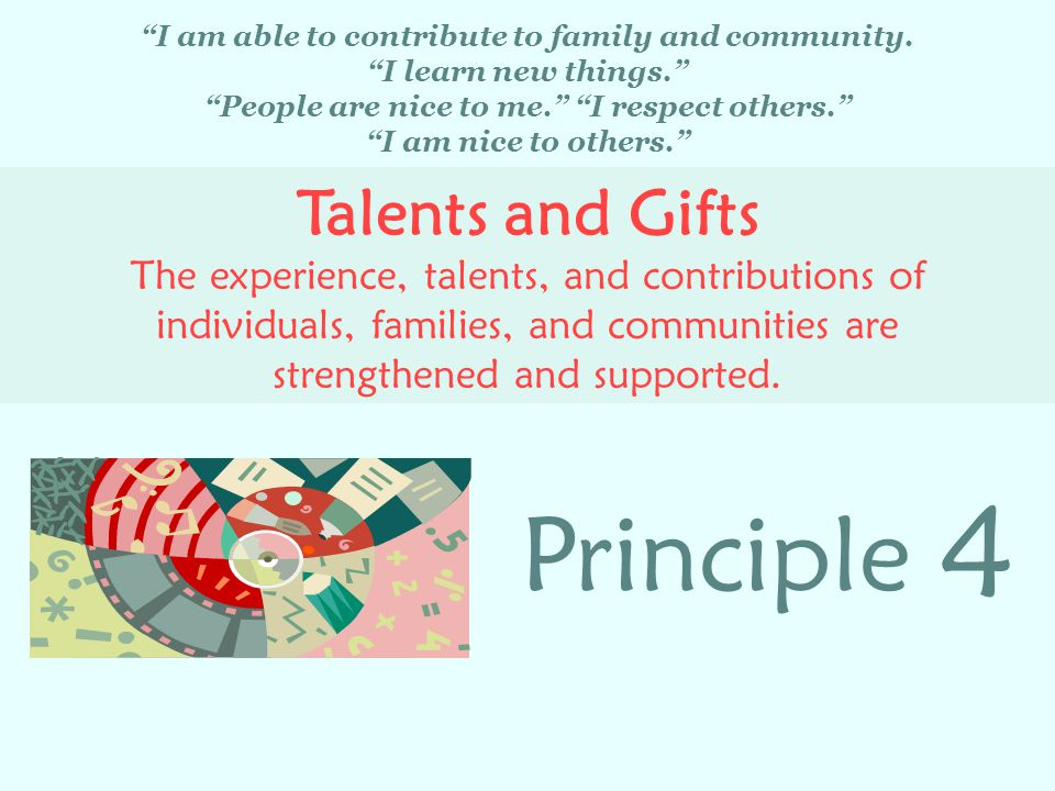 4 Principle Talents and Gifts