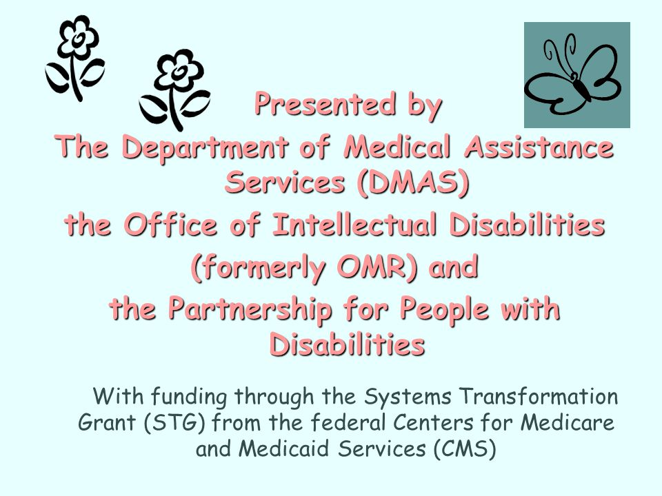 The Department of Medical Assistance Services (DMAS)