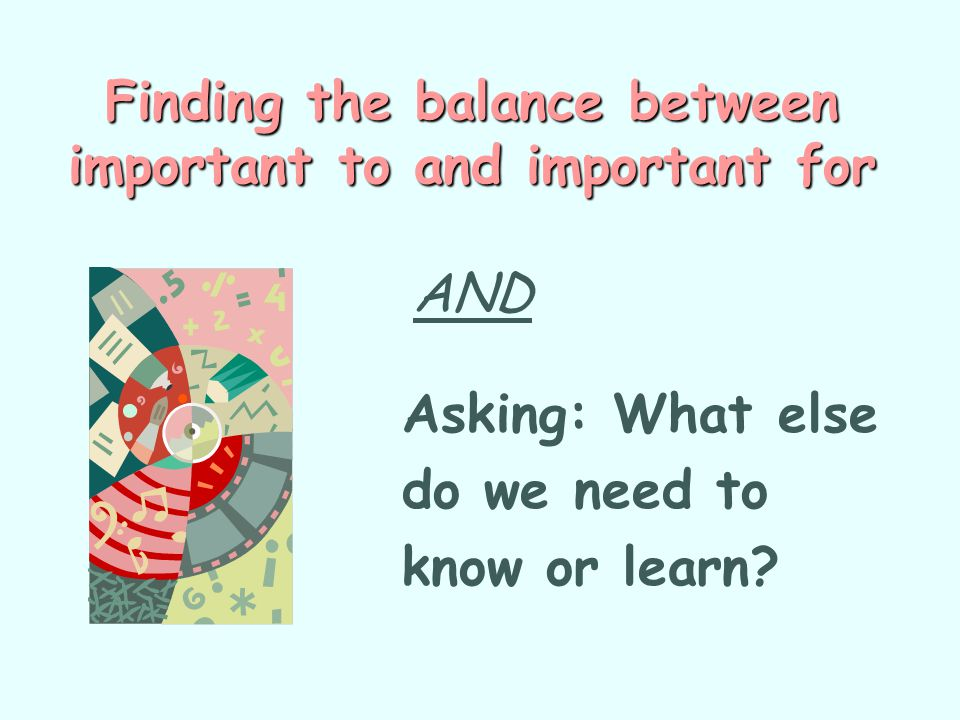 Finding the balance between important to and important for AND