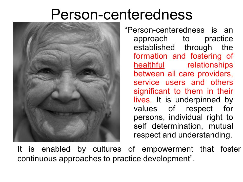 Person-centeredness