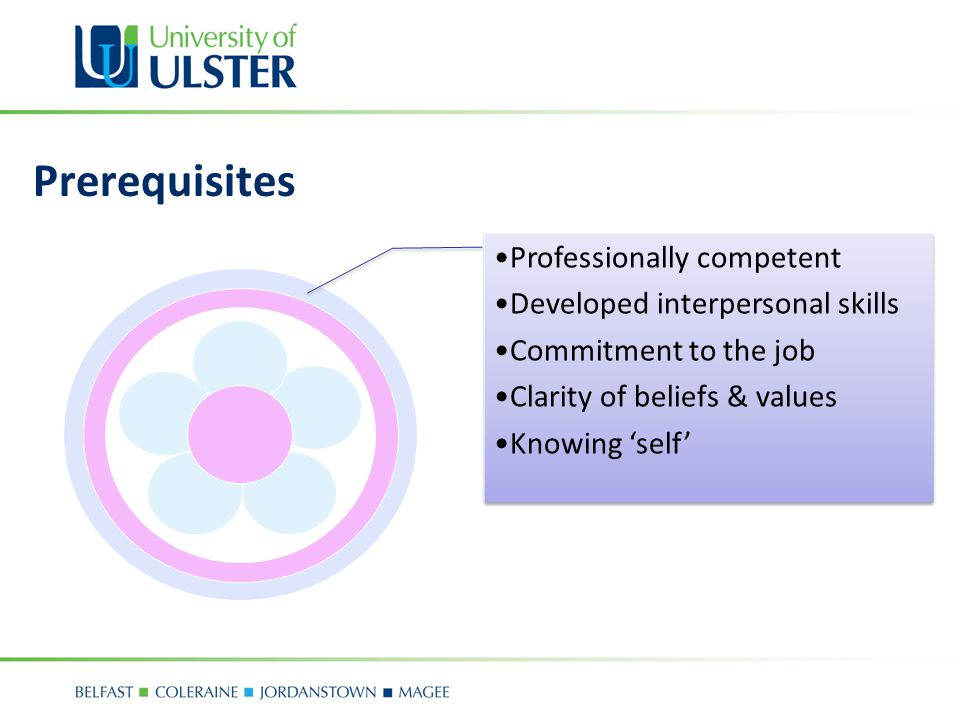 Prerequisites Professionally competent Developed interpersonal skills