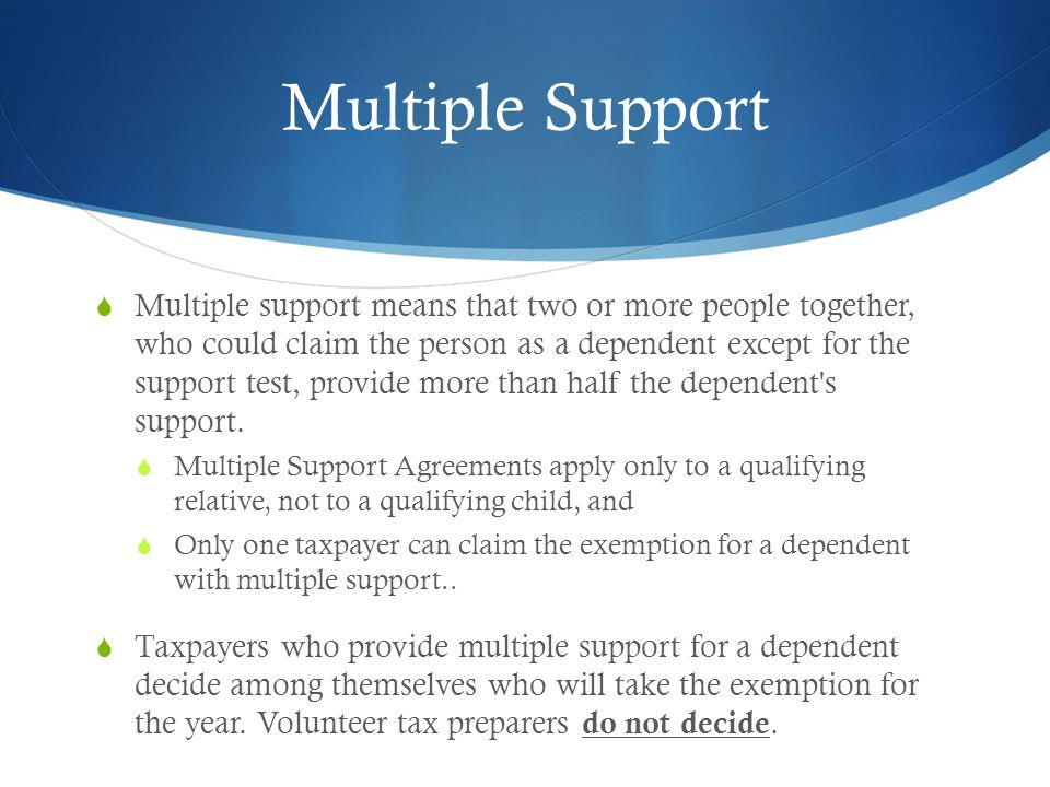 Multiple Support