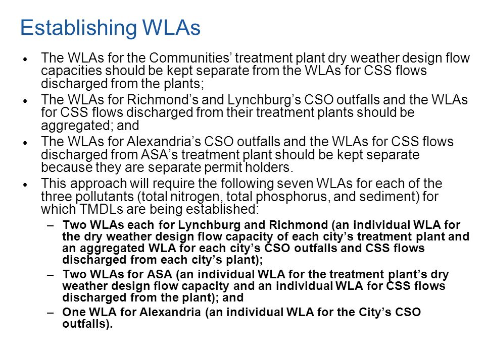 Establishing WLAs