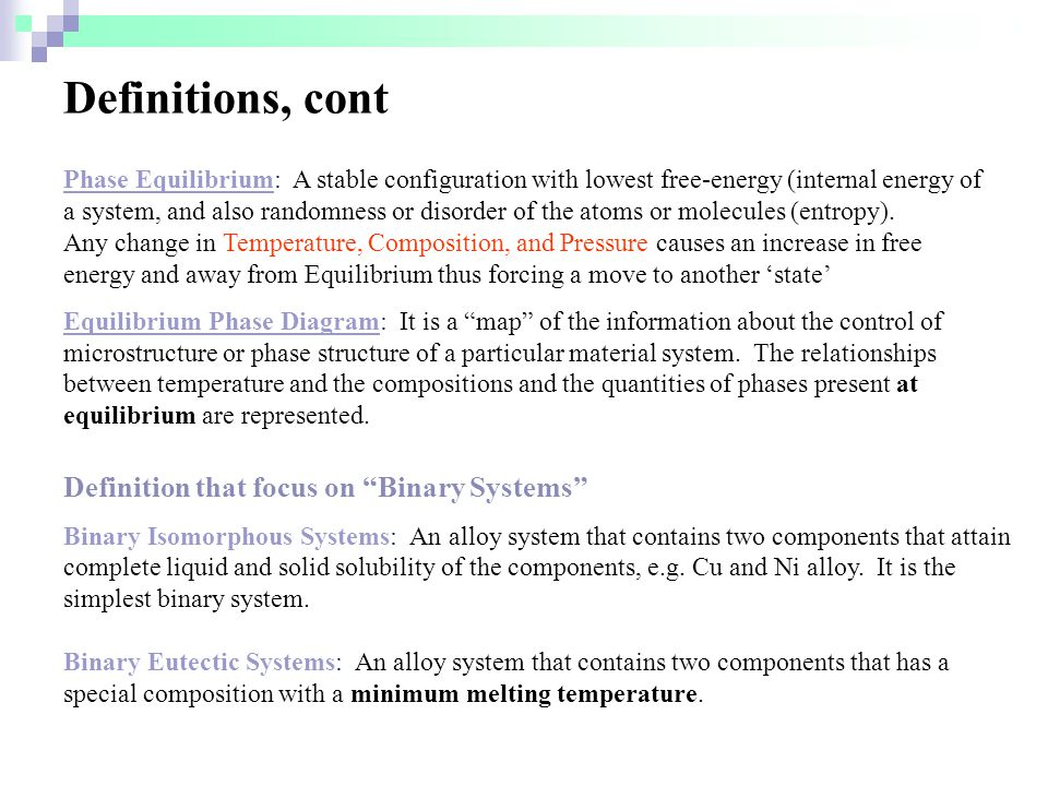 Definitions, cont Definition that focus on Binary Systems