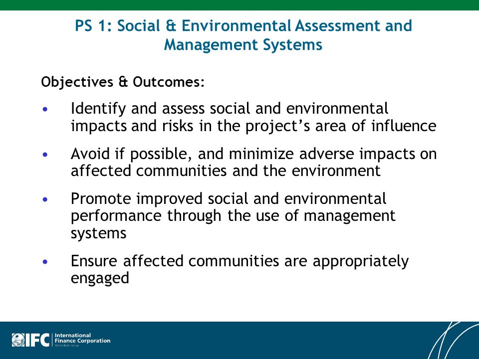PS1: Social & Environmental Assessment and Management Systems