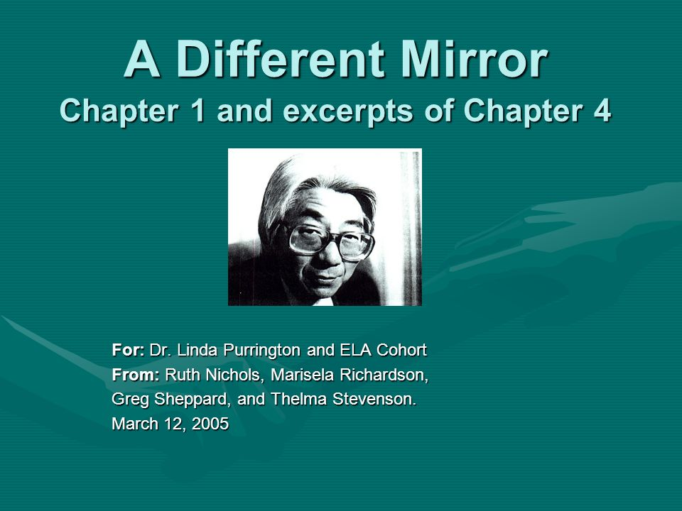A Different Mirror Chapter 1 and excerpts of Chapter 4