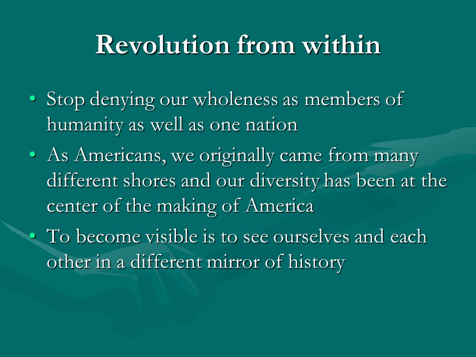 Revolution from within