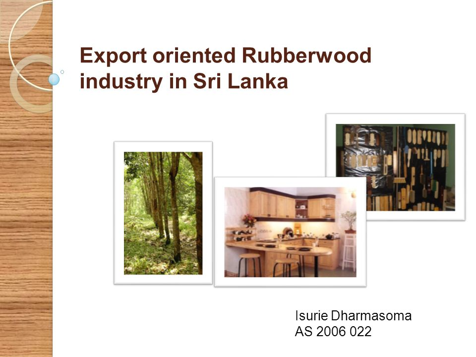 Export oriented Rubberwood industry in Sri Lanka