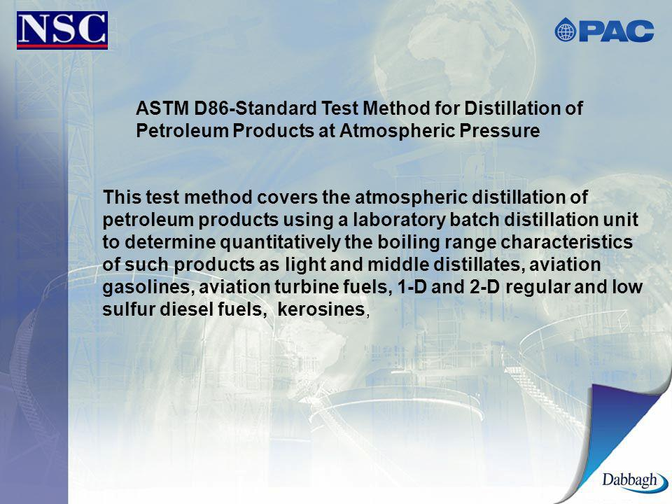 ASTM D86-Standard Test Method for Distillation of