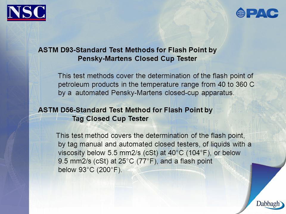 ASTM D93-Standard Test Methods for Flash Point by