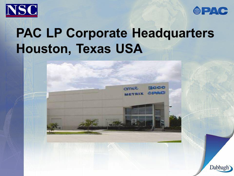 PAC LP Corporate Headquarters Houston, Texas USA