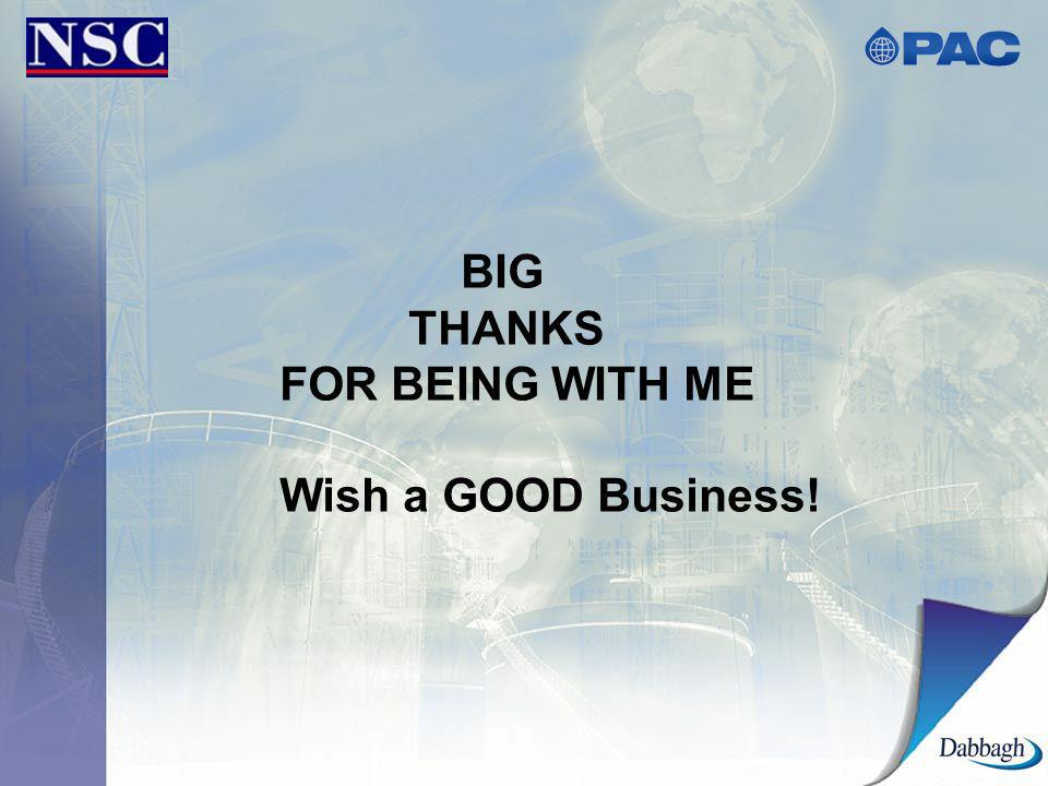BIG THANKS FOR BEING WITH ME Wish a GOOD Business!
