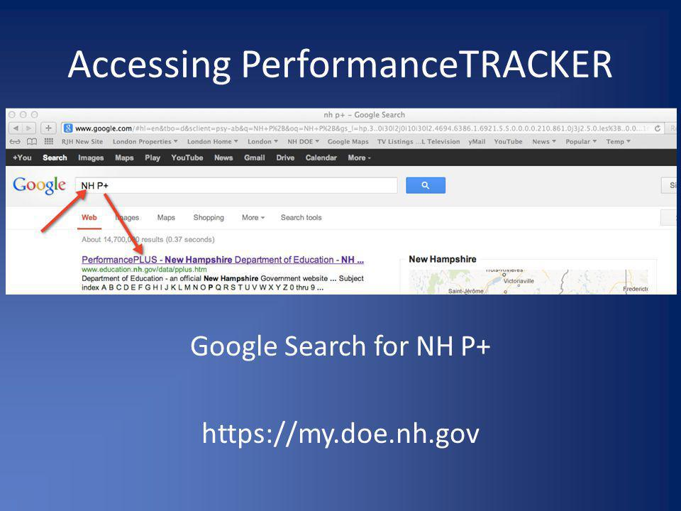 Accessing PerformanceTRACKER