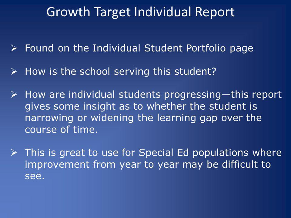 Growth Target Individual Report