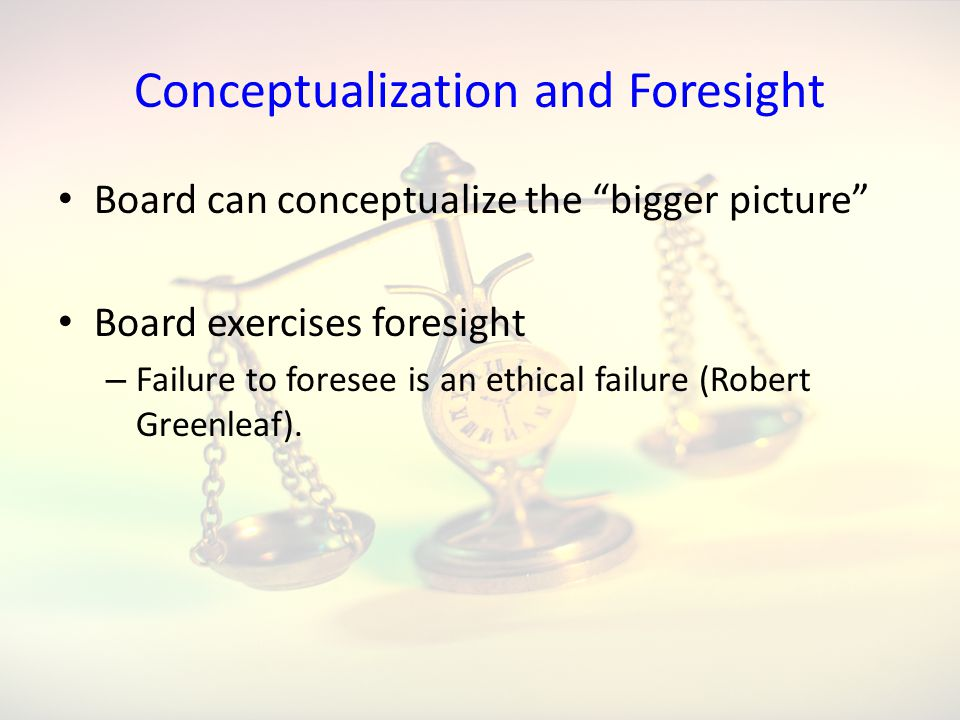 Conceptualization and Foresight