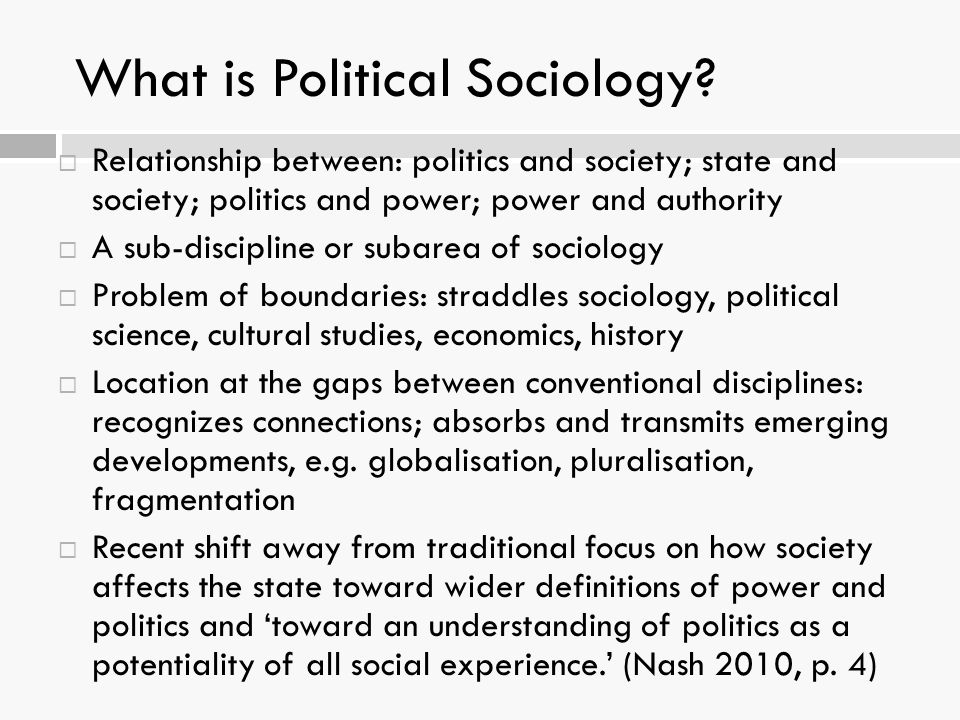 relationship of political science with sociology