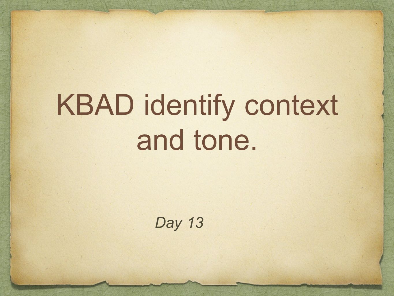 KBAD identify context and tone.