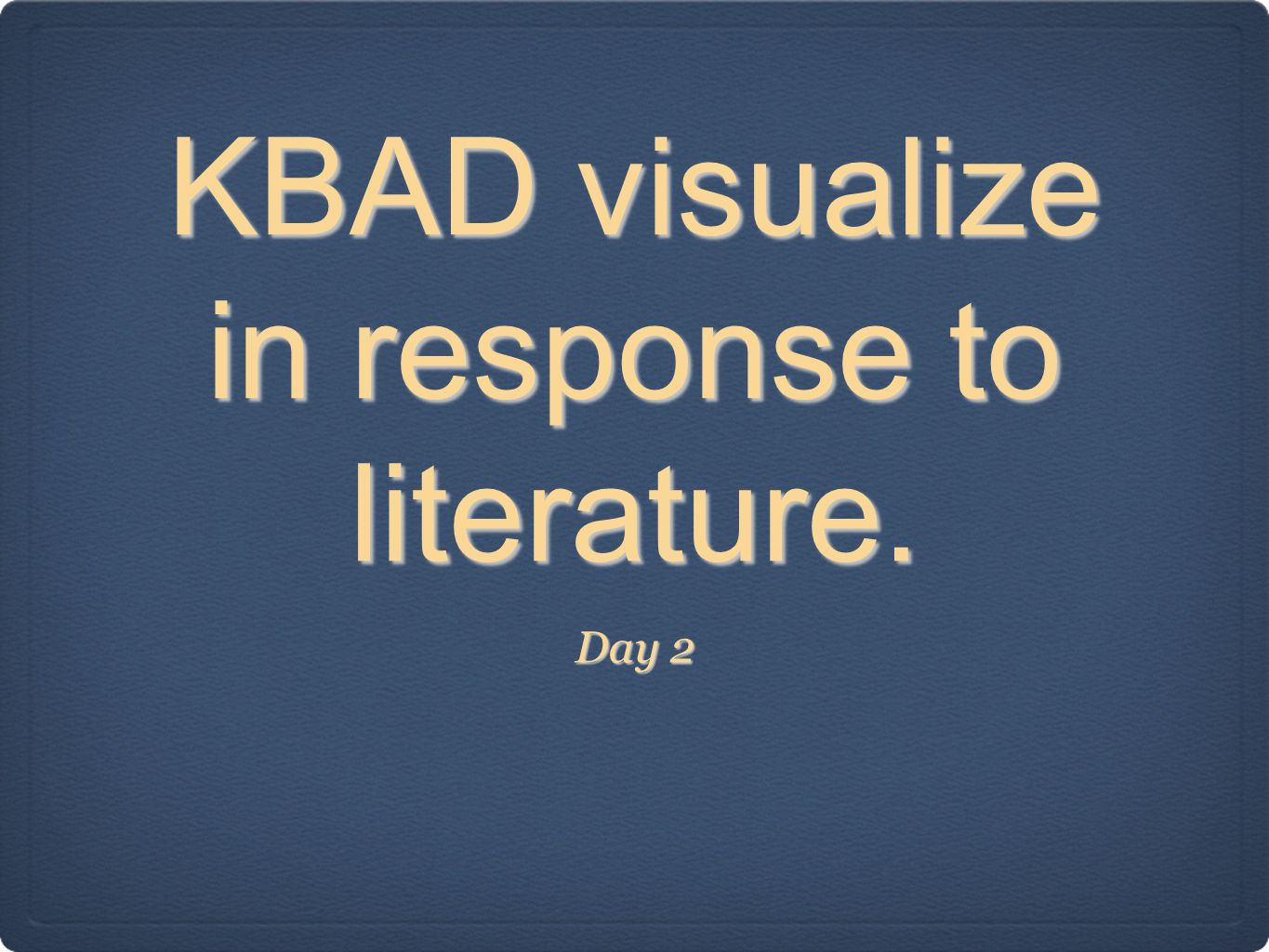 KBAD visualize in response to literature.