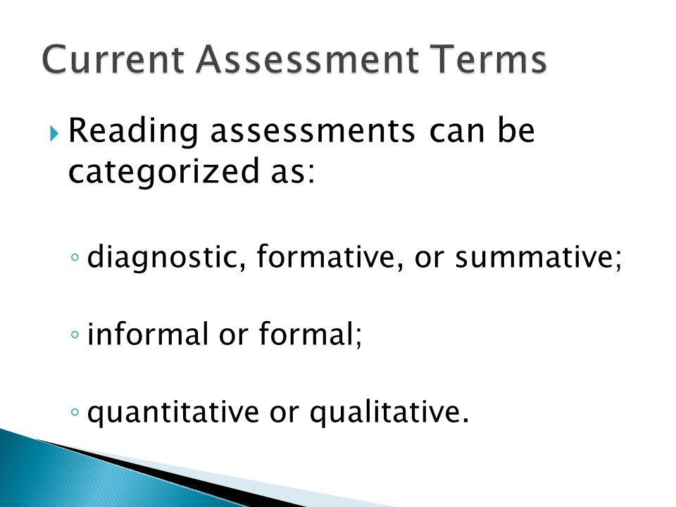 Current Assessment Terms