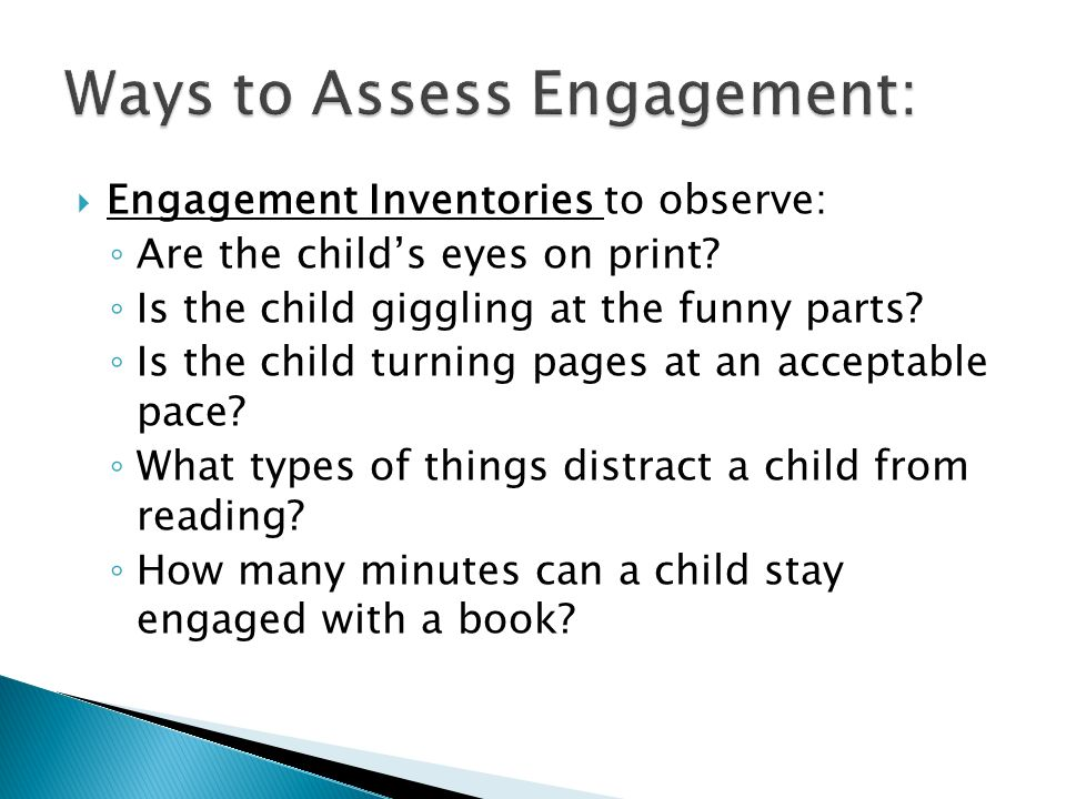 Ways to Assess Engagement: