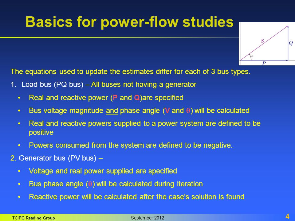 Basics for power-flow studies