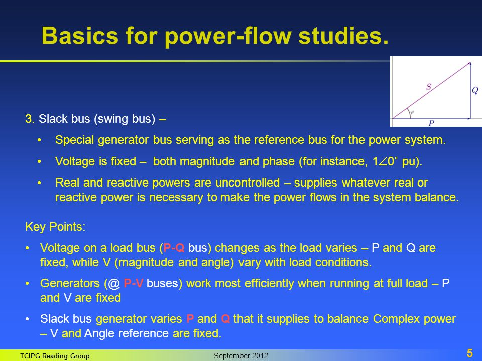 Basics for power-flow studies.