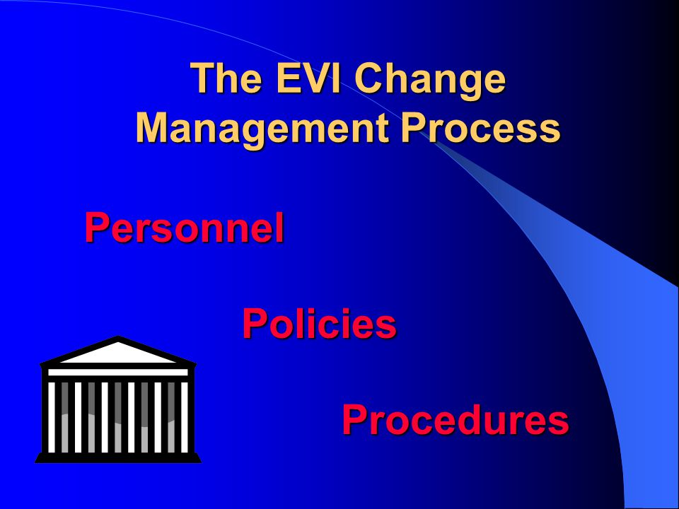 The EVI Change Management Process