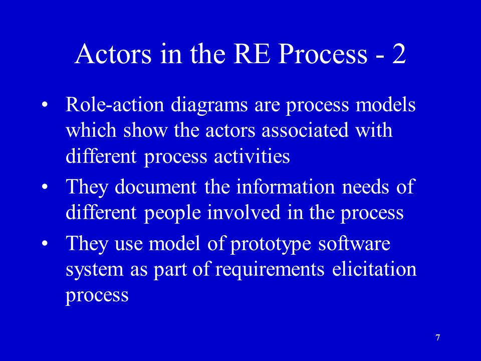 Actors in the RE Process - 2
