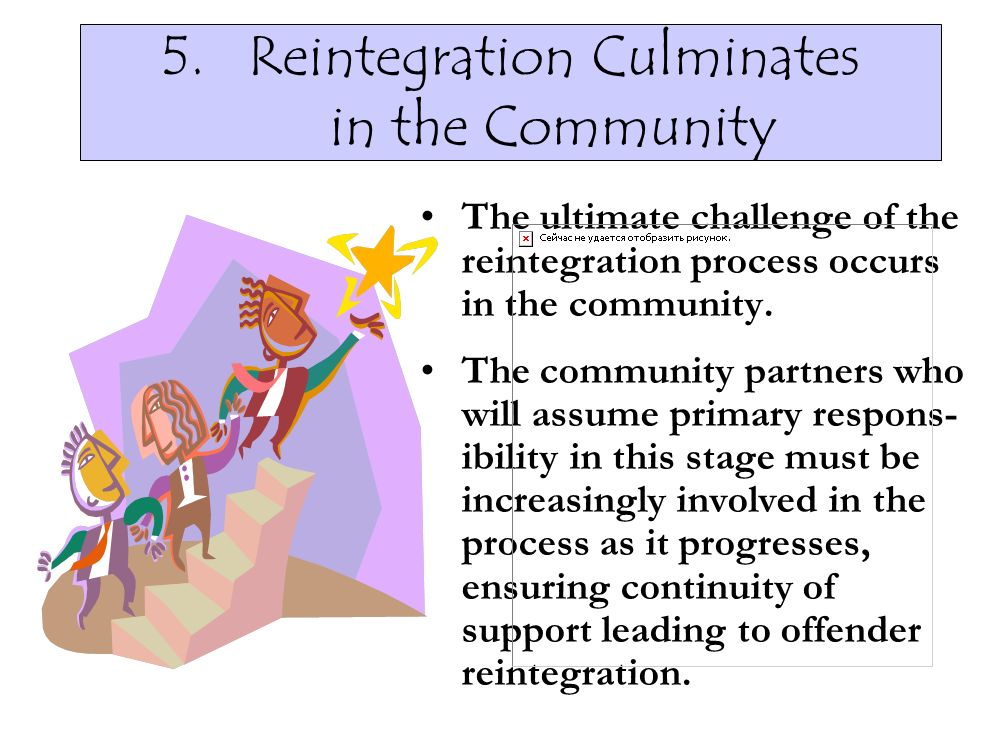 Reintegration Culminates in the Community
