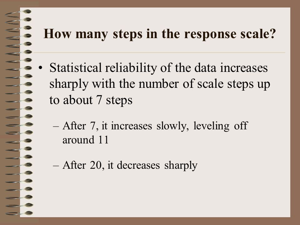 How many steps in the response scale
