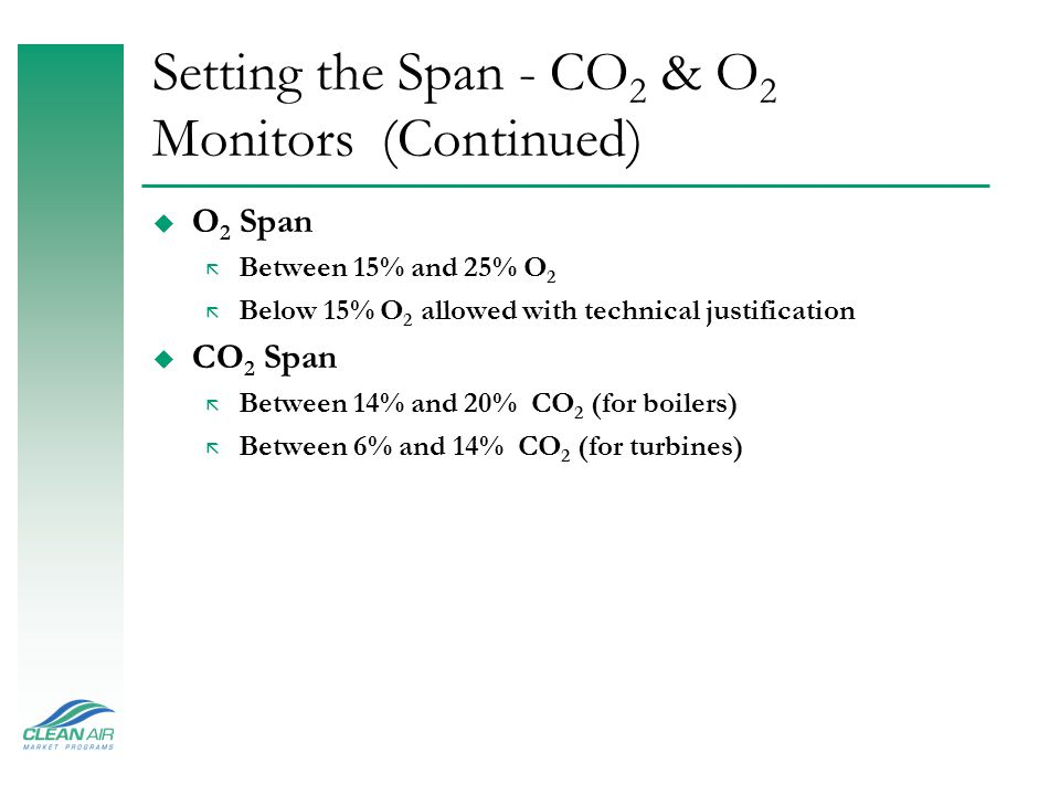 Setting the Span - CO2 & O2 Monitors (Continued)