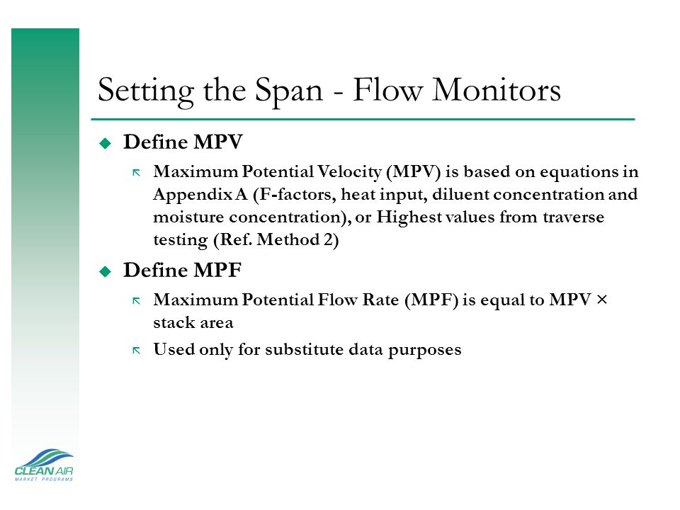 Setting the Span - Flow Monitors