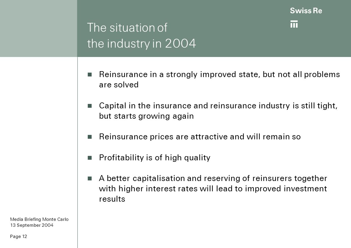 The situation of the industry in 2004