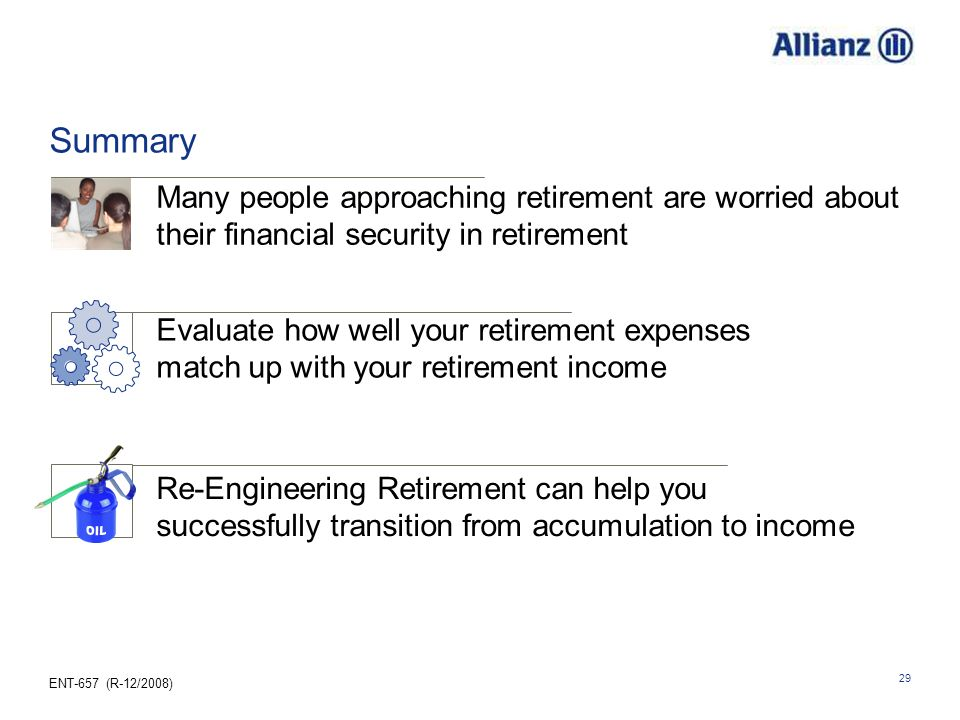 25.03.2017 Summary. Many people approaching retirement are worried about their financial security in retirement.