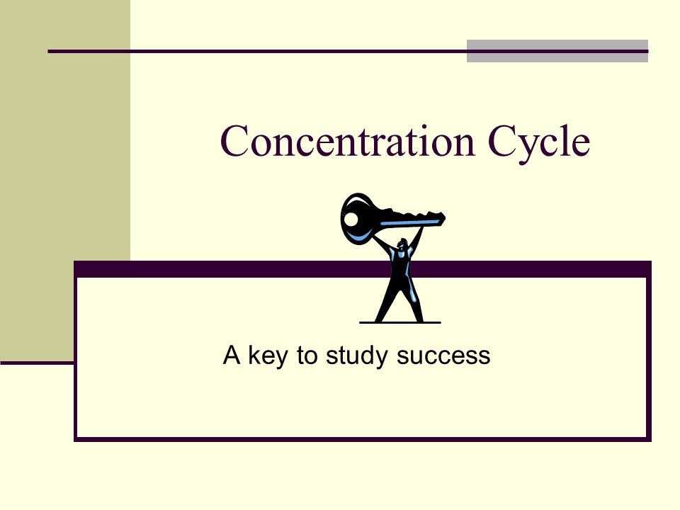 Concentration Cycle A key to study success