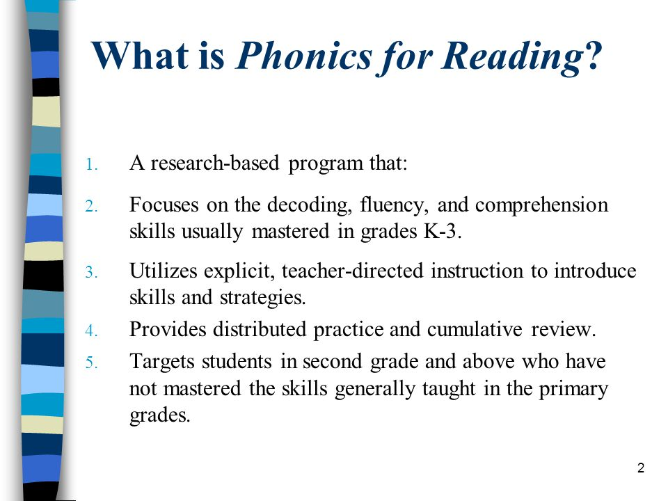 Phonics For Reading Program Training Trainer Ppt Download