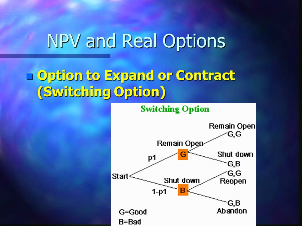 NPV and Real Options Option to Expand or Contract (Switching Option)
