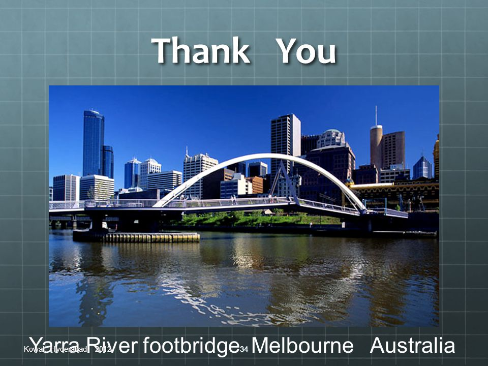 Thank You Yarra River footbridge Melbourne Australia