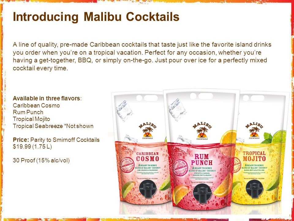 Introducing Malibu Cocktails