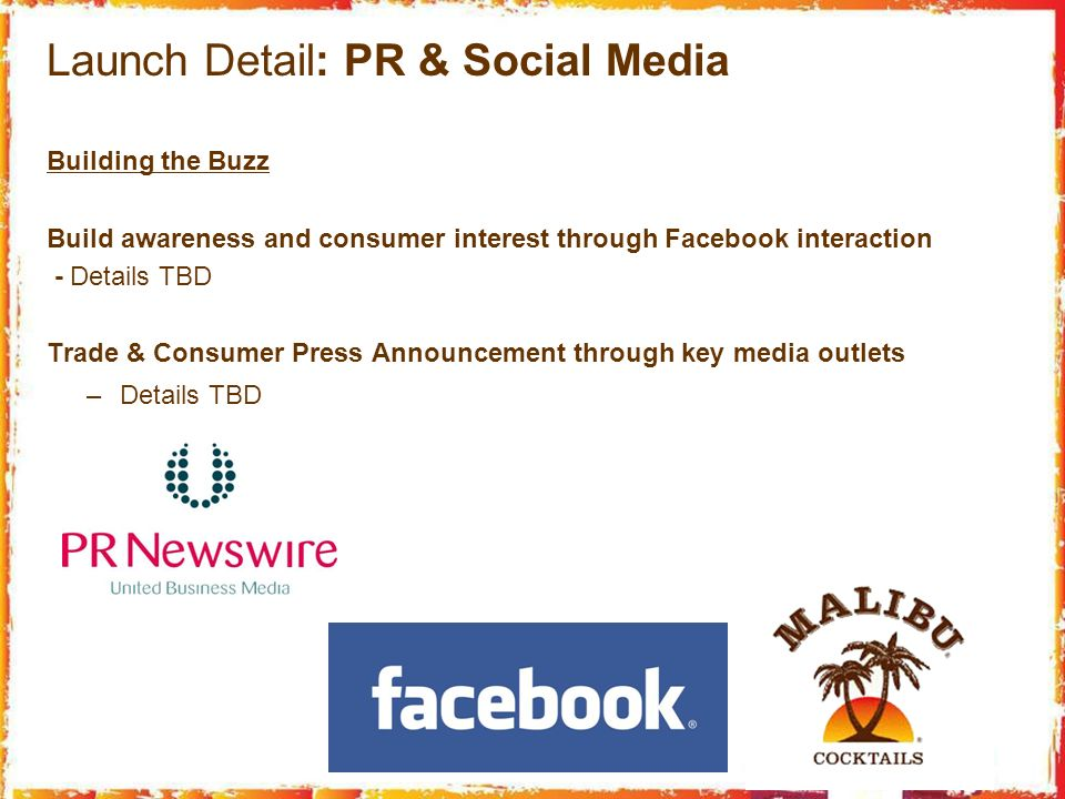 Launch Detail: PR & Social Media