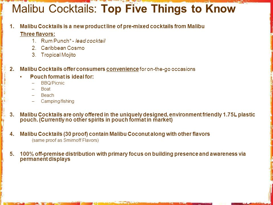 Malibu Cocktails: Top Five Things to Know