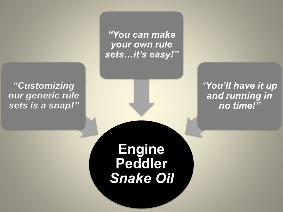 Engine Peddler Snake Oil