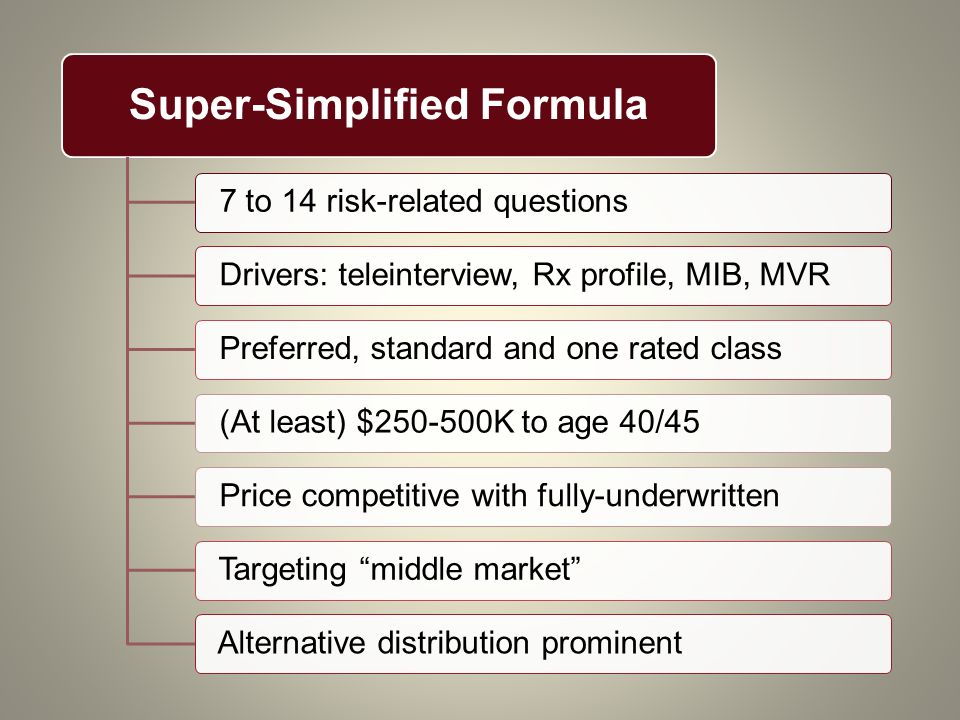 Super-Simplified Formula