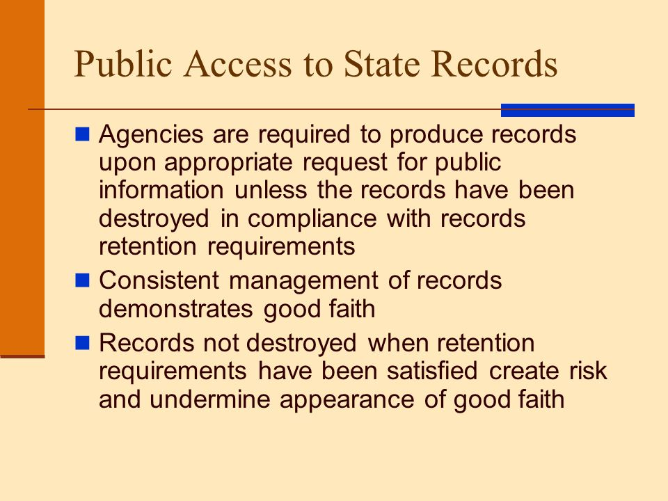 Public Access to State Records