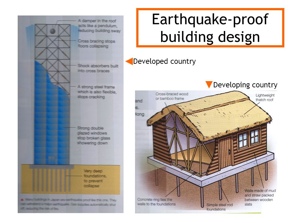 Earthquake-proof building design