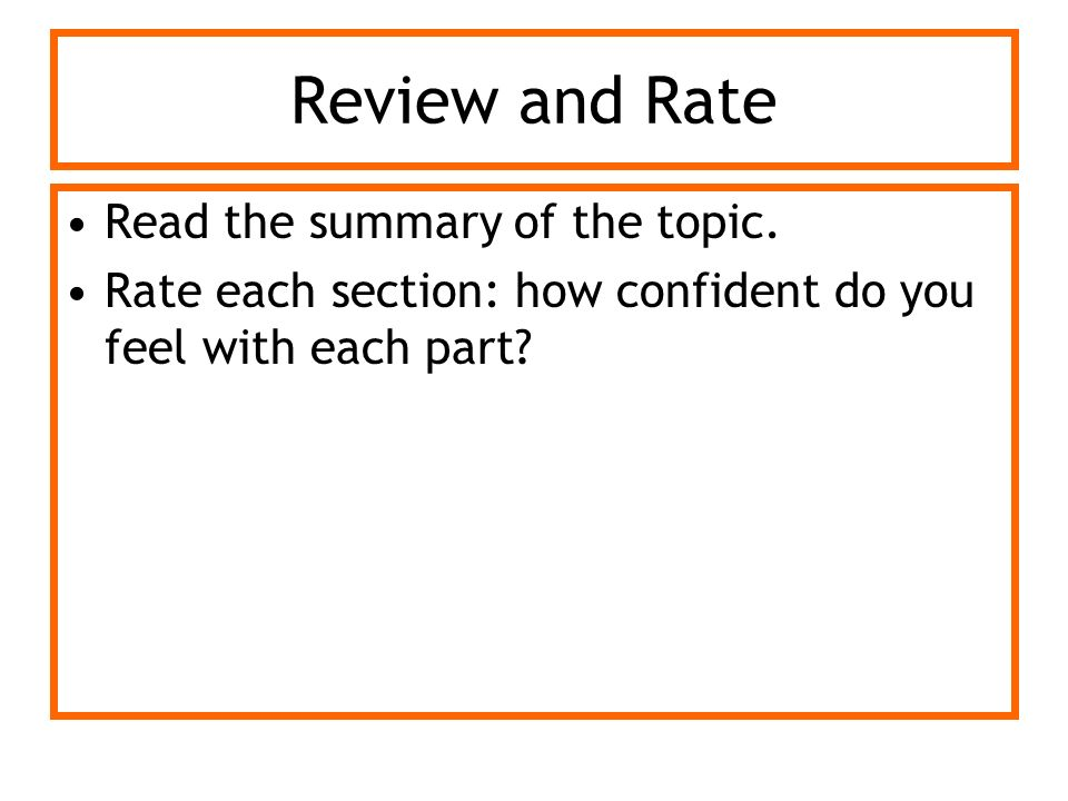 Review and Rate Read the summary of the topic.