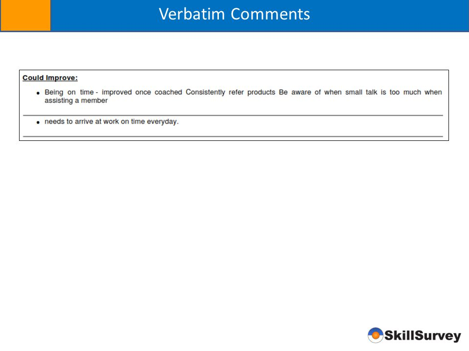 Verbatim Comments