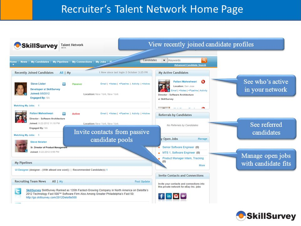 Recruiter's Talent Network Home Page