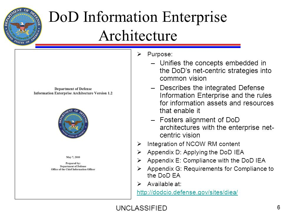 DoD Information Enterprise Architecture